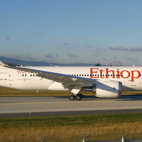 Ethiopian Airlines Lands Airbus 8350 In Abuja Today