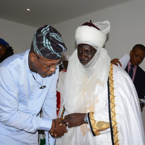 NTDC: Emir of Borgu Kingdom 1 And AUPCTRE FCT Council Pays Courtesy visit to the Director General NTDC