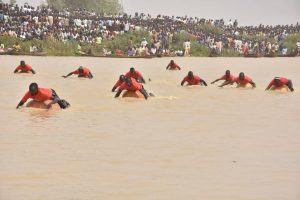 Swimming Competition and Canoe racing Competition