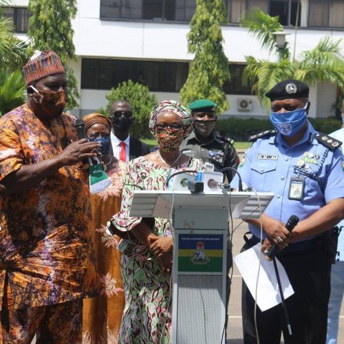 COVID-19: Director General, NCAC, Otunba Segun Runsewe donates Covid-19 Personal Protection Equipment to members of the Nigeria Police Force.
