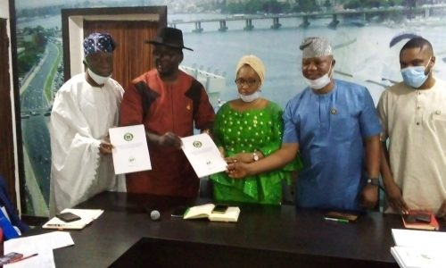 Hand Over Ceremony of the Lagos Tourism Master Plan Reviewed Edition by FTAN Lagos State Chapter