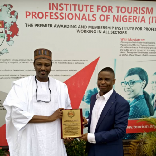 Tourism Professionals pledges support for Kangiwa, new NIHOTOUR Director General